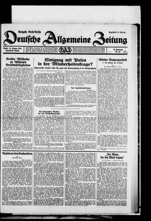 Deutsche allgemeine Zeitung vom 24.01.1931