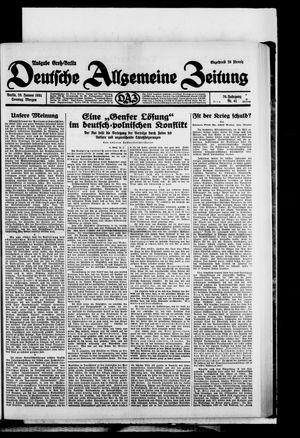 Deutsche allgemeine Zeitung on Jan 25, 1931