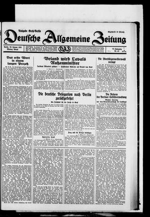 Deutsche allgemeine Zeitung vom 26.01.1931