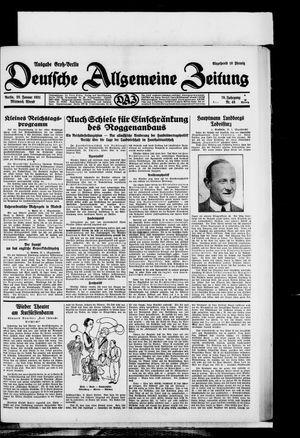 Deutsche allgemeine Zeitung on Jan 28, 1931