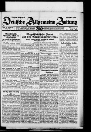 Deutsche allgemeine Zeitung on Jan 30, 1931