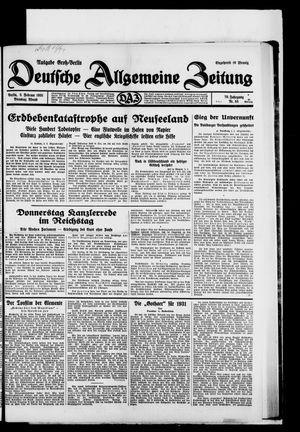 Deutsche allgemeine Zeitung vom 03.02.1931