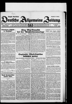 Deutsche allgemeine Zeitung vom 04.02.1931