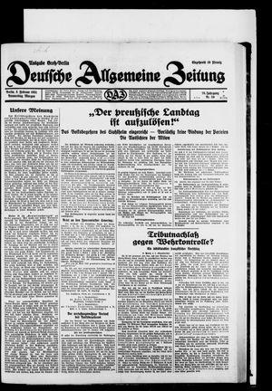 Deutsche allgemeine Zeitung on Feb 5, 1931
