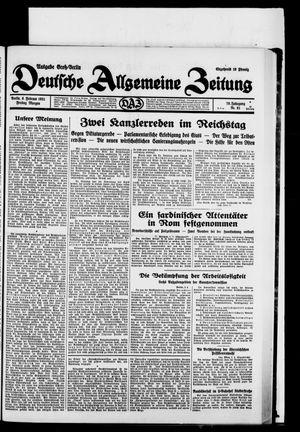 Deutsche allgemeine Zeitung vom 06.02.1931