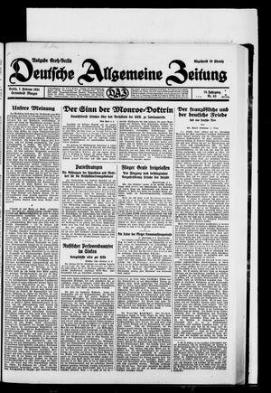 Deutsche allgemeine Zeitung vom 07.02.1931