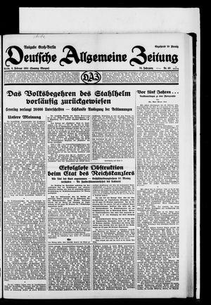 Deutsche allgemeine Zeitung vom 08.02.1931