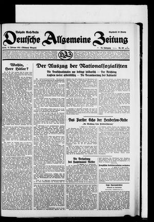 Deutsche allgemeine Zeitung vom 11.02.1931