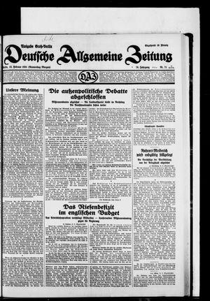 Deutsche allgemeine Zeitung vom 12.02.1931