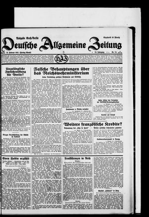 Deutsche allgemeine Zeitung vom 13.02.1931