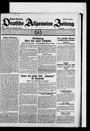 Deutsche allgemeine Zeitung vom 14.02.1931