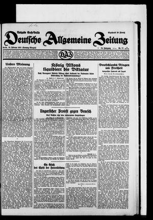 Deutsche allgemeine Zeitung vom 15.02.1931