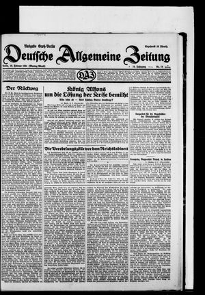 Deutsche allgemeine Zeitung vom 16.02.1931