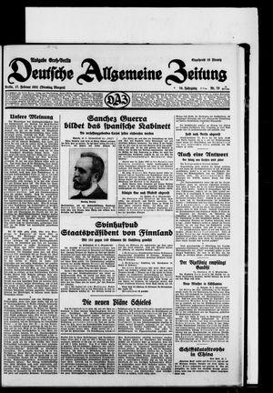 Deutsche allgemeine Zeitung vom 17.02.1931