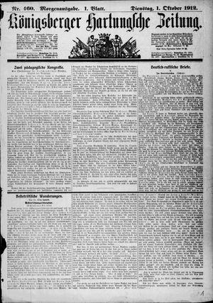 Königsberger Hartungsche Zeitung vom 01.10.1912