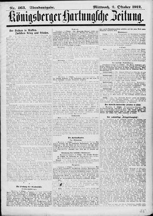Königsberger Hartungsche Zeitung vom 02.10.1912
