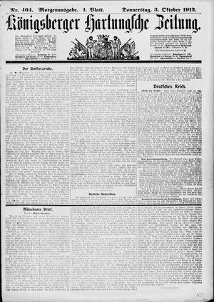 Königsberger Hartungsche Zeitung vom 03.10.1912