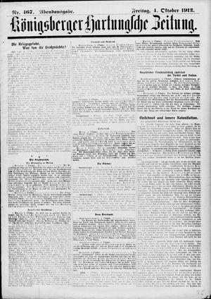 Königsberger Hartungsche Zeitung vom 04.10.1912