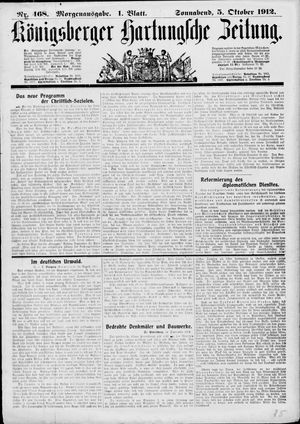 Königsberger Hartungsche Zeitung vom 05.10.1912