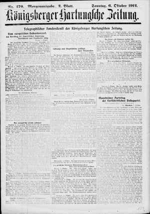 Königsberger Hartungsche Zeitung vom 06.10.1912