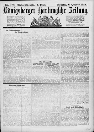Königsberger Hartungsche Zeitung on Oct 8, 1912