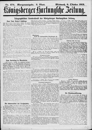 Königsberger Hartungsche Zeitung on Oct 9, 1912