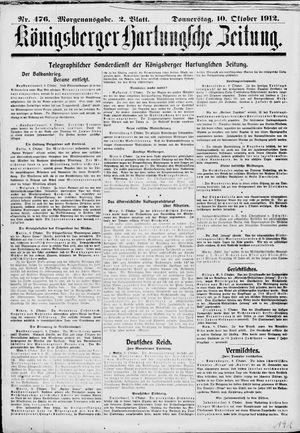 Königsberger Hartungsche Zeitung vom 10.10.1912