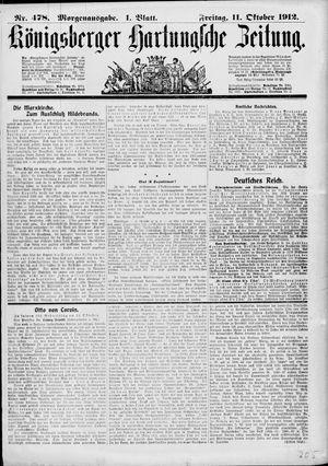 Königsberger Hartungsche Zeitung vom 11.10.1912