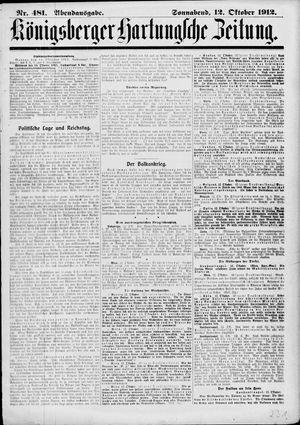 Königsberger Hartungsche Zeitung vom 12.10.1912