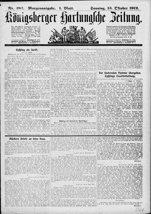Königsberger Hartungsche Zeitung vom 13.10.1912