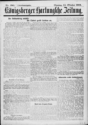 Königsberger Hartungsche Zeitung vom 14.10.1912