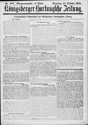 Königsberger Hartungsche Zeitung vom 15.10.1912