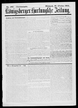 Königsberger Hartungsche Zeitung vom 16.10.1912