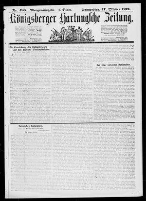Königsberger Hartungsche Zeitung vom 17.10.1912