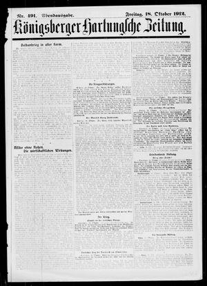 Königsberger Hartungsche Zeitung vom 18.10.1912