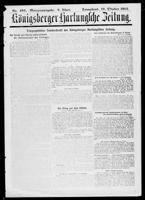 Königsberger Hartungsche Zeitung vom 19.10.1912