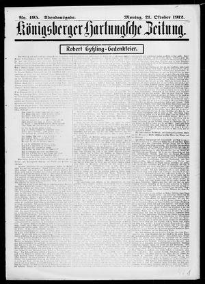 Königsberger Hartungsche Zeitung vom 21.10.1912