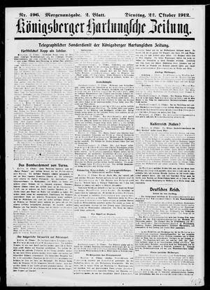 Königsberger Hartungsche Zeitung vom 22.10.1912