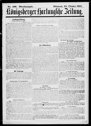 Königsberger Hartungsche Zeitung vom 23.10.1912