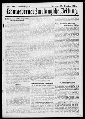 Königsberger Hartungsche Zeitung on Oct 25, 1912