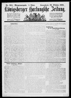 Königsberger Hartungsche Zeitung vom 26.10.1912