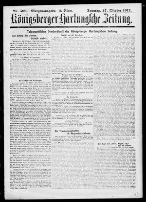 Königsberger Hartungsche Zeitung vom 27.10.1912
