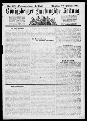 Königsberger Hartungsche Zeitung vom 29.10.1912