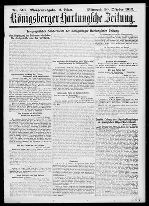 Königsberger Hartungsche Zeitung on Oct 30, 1912