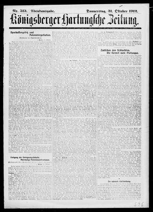 Königsberger Hartungsche Zeitung vom 31.10.1912