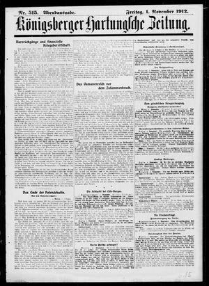 Königsberger Hartungsche Zeitung vom 01.11.1912