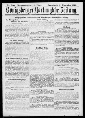 Königsberger Hartungsche Zeitung on Nov 2, 1912