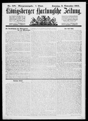 Königsberger Hartungsche Zeitung vom 03.11.1912