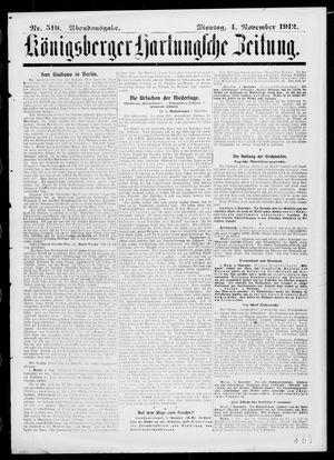 Königsberger Hartungsche Zeitung vom 04.11.1912