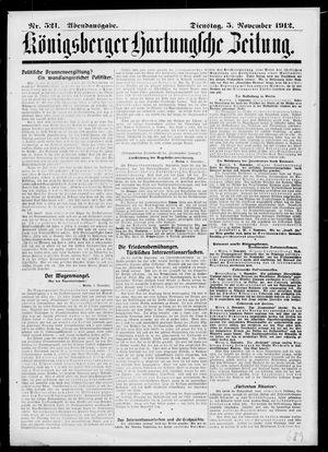 Königsberger Hartungsche Zeitung vom 05.11.1912